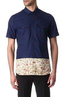 VIVIENNE WESTWOOD Print-panel short-sleeved shirt
