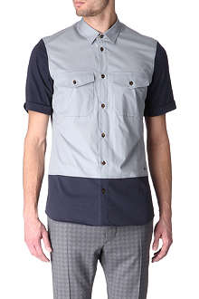 VIVIENNE WESTWOOD Jersey-panel short-sleeve shirt