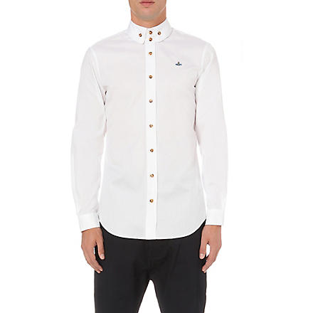 VIVIENNE WESTWOOD Three-button collar single-cuff shirt (White