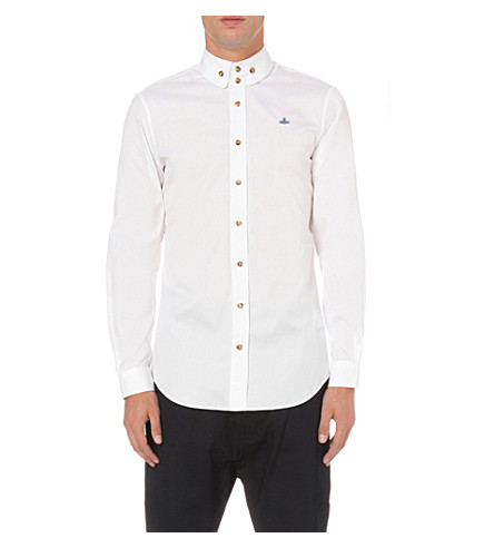 VIVIENNE WESTWOOD Krall slim-fit cotton-poplin shirt (White