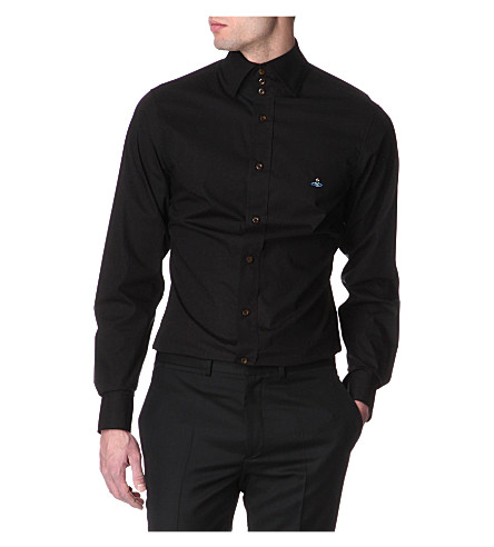 VIVIENNE WESTWOOD Three-button collar single-cuff shirt (Black