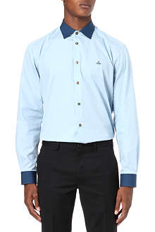 VIVIENNE WESTWOOD Contrast-colour slim-fit shirt