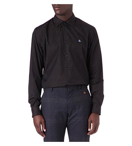 VIVIENNE WESTWOOD Weave print shirt (Black