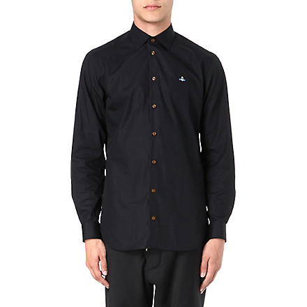 VIVIENNE WESTWOOD Slim-fit poplin shirt (Black