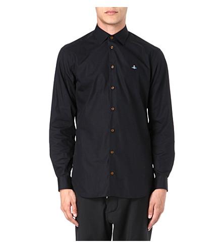 VIVIENNE WESTWOOD Slim-fit poplin shirt (Black