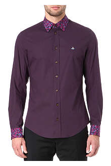 VIVIENNE WESTWOOD Leopard-collar single-cuff shirt