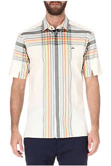 VIVIENNE WESTWOOD Checked orb-embroidered shirt