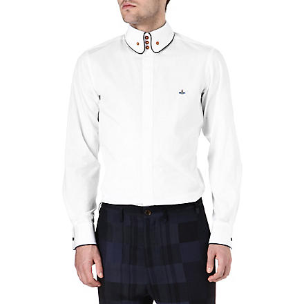 VIVIENNE WESTWOOD Three-button piped-edge shirt (White