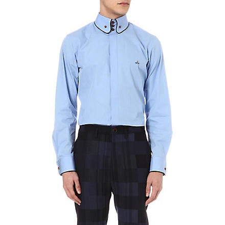 VIVIENNE WESTWOOD Three-button piped-edge shirt (Blue