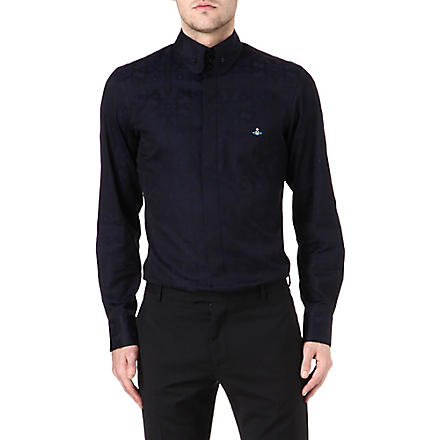 VIVIENNE WESTWOOD Three-button piped-edge shirt (Navy
