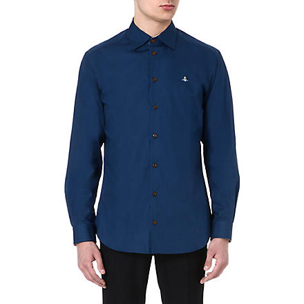 VIVIENNE WESTWOOD Regular-fit logo shirt (Petrol