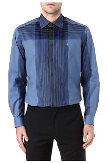 VIVIENNE WESTWOOD Oversized check slim-fit shirt