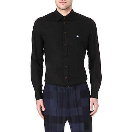 VIVIENNE WESTWOOD Orb slim-fit stretch-cotton shirt (Black