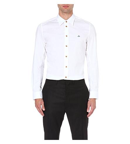 VIVIENNE WESTWOOD Orb stretch-cotton shirt (White