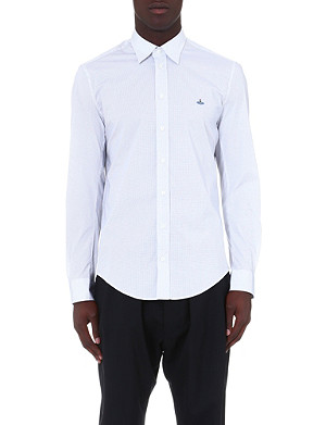 VIVIENNE WESTWOOD Dot-print regular-fit shirt