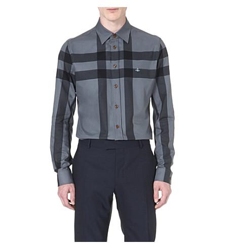 VIVIENNE WESTWOOD Windowpane check shirt (Grey