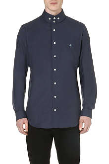 VIVIENNE WESTWOOD Orb-embroidered cotton shirt