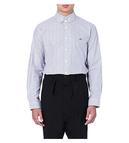 VIVIENNE WESTWOOD Striped button-down shirt (White/navy