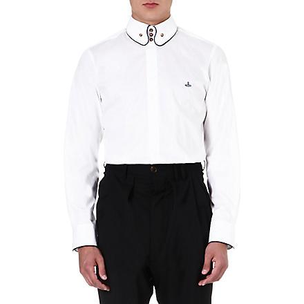 VIVIENNE WESTWOOD Slim-fit three-button shirt (White