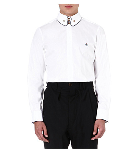 VIVIENNE WESTWOOD Slim-fit three-button shirt (White