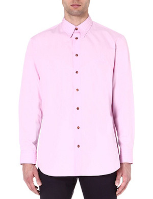 VIVIENNE WESTWOOD Embossed-logo regular-fit shirt