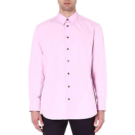 VIVIENNE WESTWOOD Embossed-logo regular-fit shirt (Pink