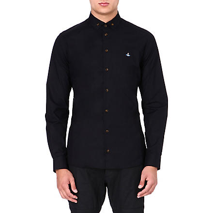 VIVIENNE WESTWOOD Orb stretch-poplin shirt (Black
