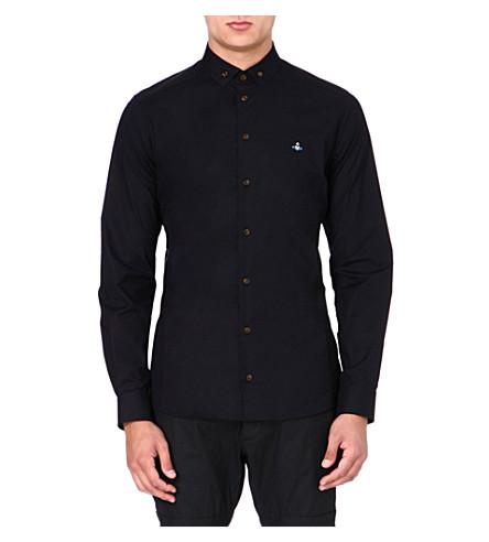 VIVIENNE WESTWOOD Orb stretch-poplin shirt (Black