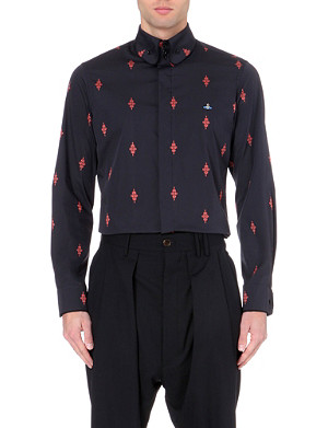 VIVIENNE WESTWOOD Krall crosshatch diamond stretch-cotton shirt