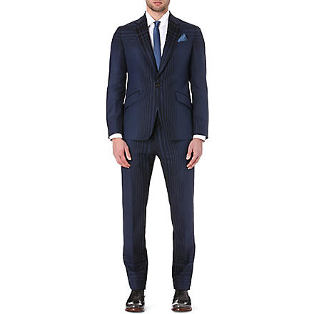 VIVIENNE WESTWOOD James checked suit (Navy