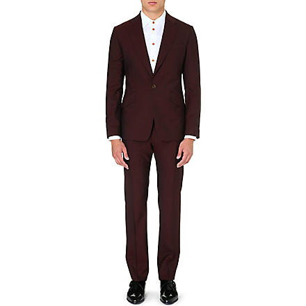 VIVIENNE WESTWOOD Slim-fit one-button suit (Red