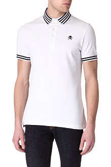 VIVIENNE WESTWOOD Striped-collar polo shirt