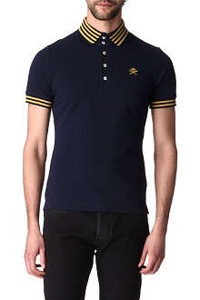 VIVIENNE WESTWOOD Striped skull polo shirt