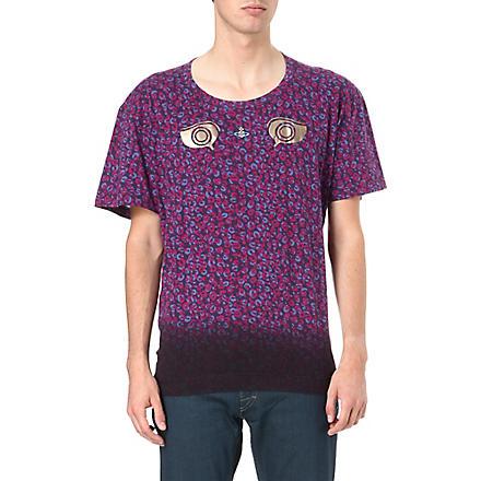VIVIENNE WESTWOOD Leopard print orb t-shirt (Purple
