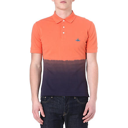 VIVIENNE WESTWOOD Dip-dye polo shirt (Orange