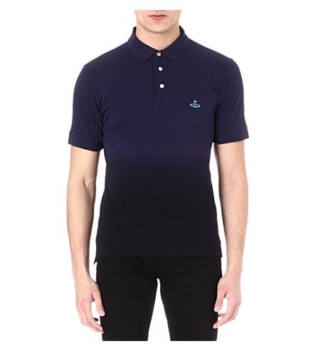 VIVIENNE WESTWOOD Dip-dye polo shirt (Navy