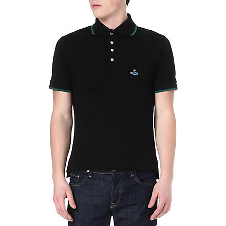 VIVIENNE WESTWOOD Basic Orb polo shirt (Black