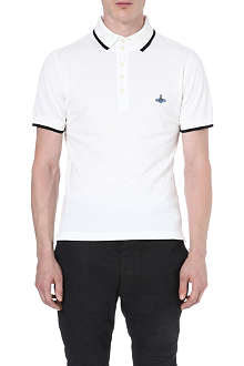 VIVIENNE WESTWOOD Orb-embroidered polo shirt