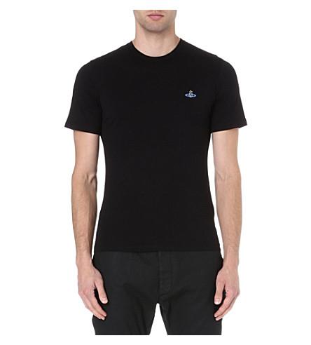VIVIENNE WESTWOOD Orb-embroidered t-shirt (Black