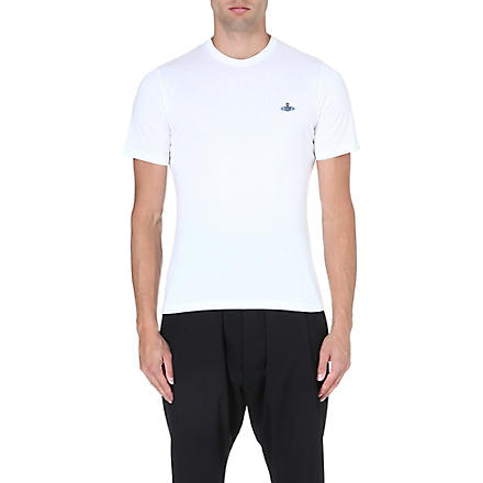 VIVIENNE WESTWOOD Orb-embroidered t-shirt (White