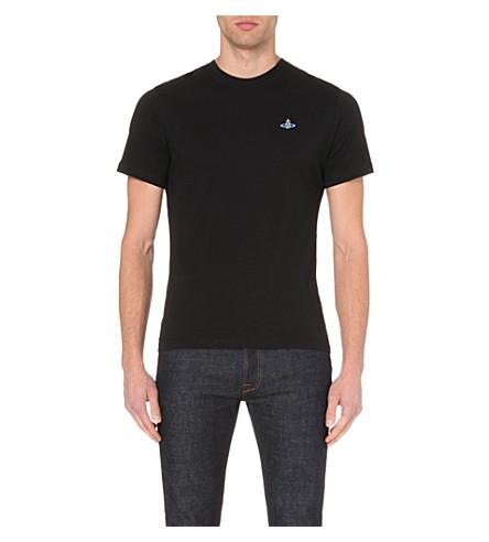 VIVIENNE WESTWOOD Classic cotton-jersey orb t-shirt (Black