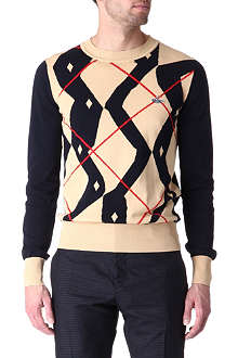 VIVIENNE WESTWOOD Twisted argyle jumper