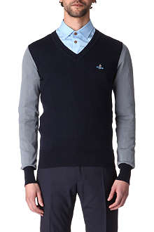 VIVIENNE WESTWOOD Panelled cotton jumper