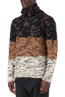 VIVIENNE WESTWOOD Flecked stripe cable knit jumper