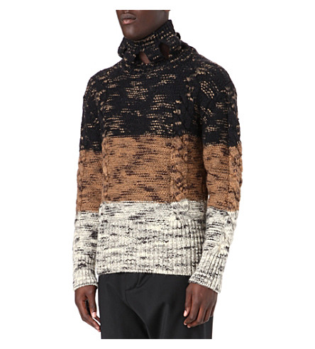 VIVIENNE WESTWOOD Flecked stripe cable knit jumper (Brown