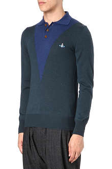 VIVIENNE WESTWOOD Contrast-coloured knitted polo shirt