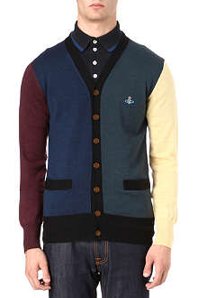 VIVIENNE WESTWOOD Colourblocked panel cardigan