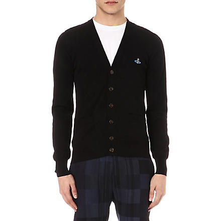 VIVIENNE WESTWOOD Orb-embroidered cardigan (Black