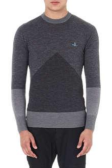 VIVIENNE WESTWOOD Geo Intarsia knitted jumper