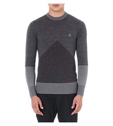VIVIENNE WESTWOOD Geo Intarsia knitted jumper (Grey